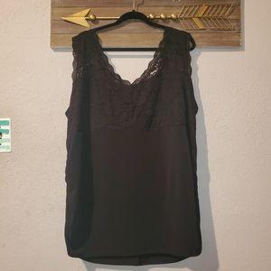 Maurices plus 4 (fits like 3x) black sleeveless